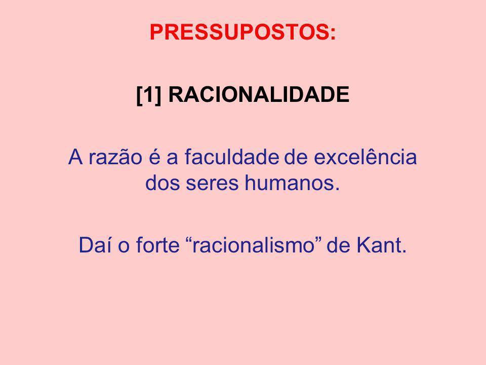 PRESSUPOSTOS: [1] RACIONALIDADE
